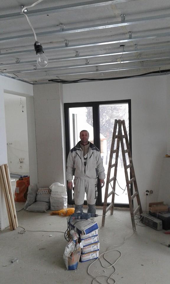 едноредова конструкция за гипсокартон таван