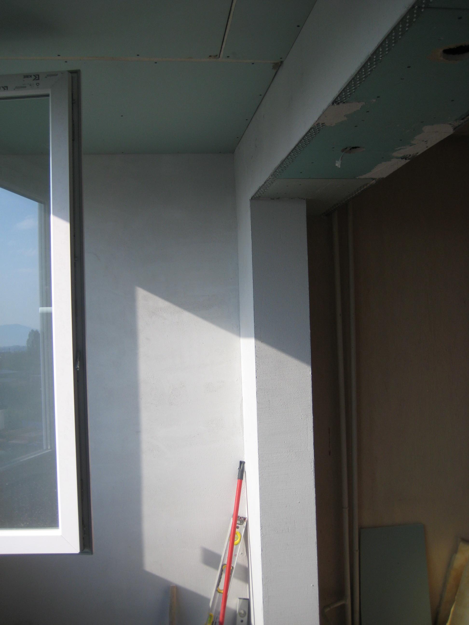 обръщане на носеща стена с куфар от гипсокартон