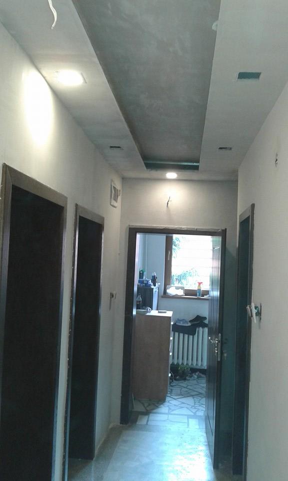 скрито осветелние на таван с гипсокартон