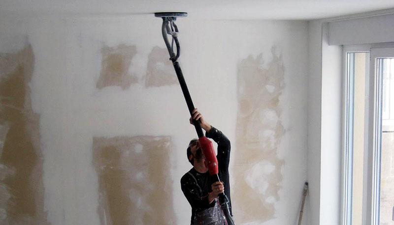 машинно шлайфане на стени и тавани