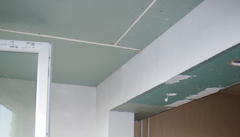 обръщане на носеща стена с гипсокартон
